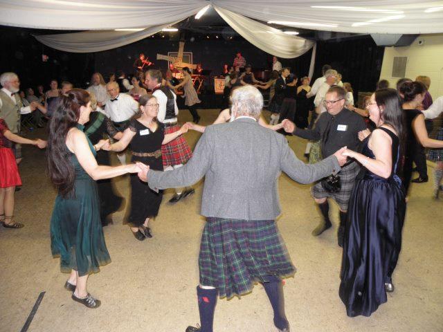 Dancers circling at the Failte Ball